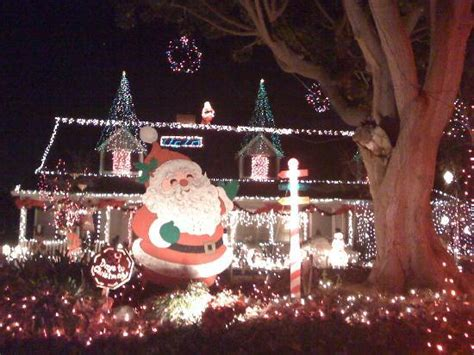 candy lane christmas lights in torrance large santa display picture of candy cane lane los