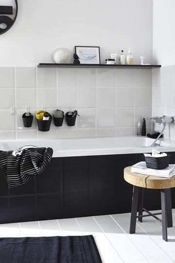 Deco Black And White Bathroom by Deco Pour Femme Actuelle Celibataire Black Tiles Black