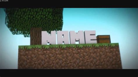 free 3d minecraft intro blender template 4 youtube
