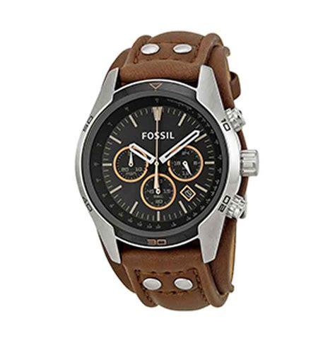 jual fossil coachman chronograph ch2891 jam tangan pria brown harga kualitas