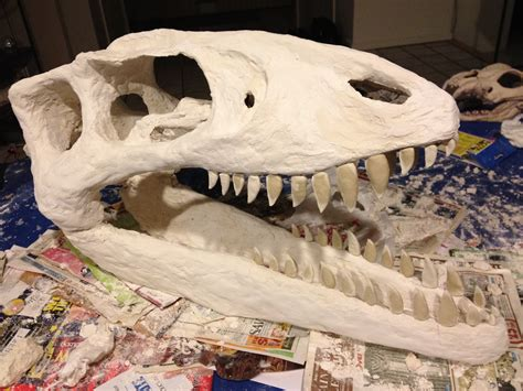 How to Make a Big Dinosaur Skull For Very Little Money ... Giant Alligator Dinosaur