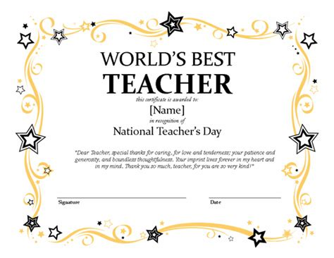 publisher templates for certificate awards national teacher s day certificate microsoft publisher