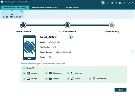 Android Recovery by Recover Your Lost Data Using Mobikin Doctor For Android