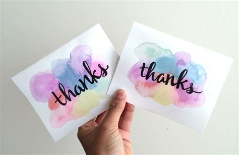 watercolour cards diy easy 5 minute diy watercolor greeting card recess