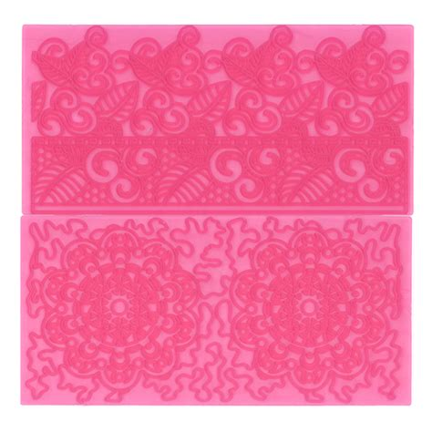 Embossing Mat For Big by Filigree Lace Impression Mats Set Of 2 Pretty Witty Cakes