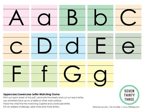 printable alphabet letters uppercase and lowercase uppercase lowercase letter matching game matching games