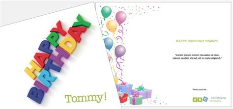 birthday card templates publisher 2007 greetings card childcare birthday istudio publisher