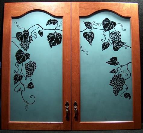 sandblasting kitchen cabinet doors grape cabinet doors private residence 576x536 jpg