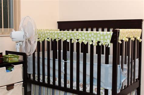 Crib Guard Rail For Teething by Diy Fleece Crib Rail Guard No Sew I Wish I Would Thought About This When The Were