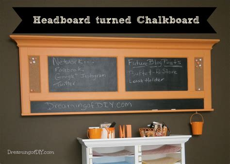 diy chalkboard message center announcing the diy before and after contest winner fox