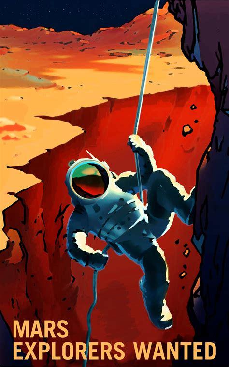 nasa design poster mars explorers wanted posters mars exploration program