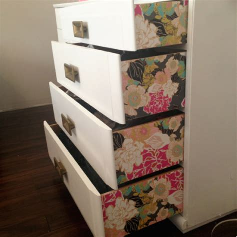 update a dresser 10 unusual ideas for using leftover wallpaper