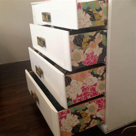 diy using dresser drawers bright bold diy wallpaper dresser