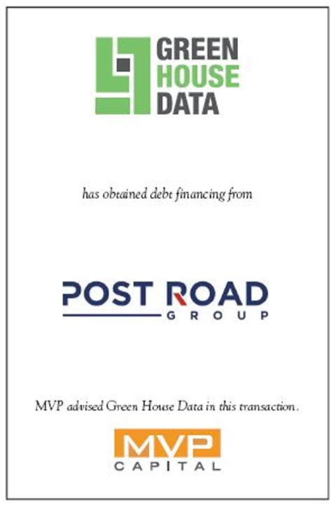 Green House Data by Green House Data Has Obtained Debt Financing From Post