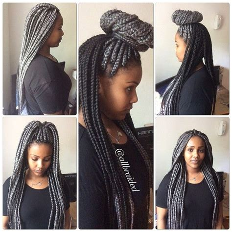 slick box braids call it grey or silver bum length box braid hair colour