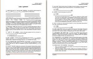 Agreement Contract Template Word by Ms Word Lease Agreement Template Word Document Templates