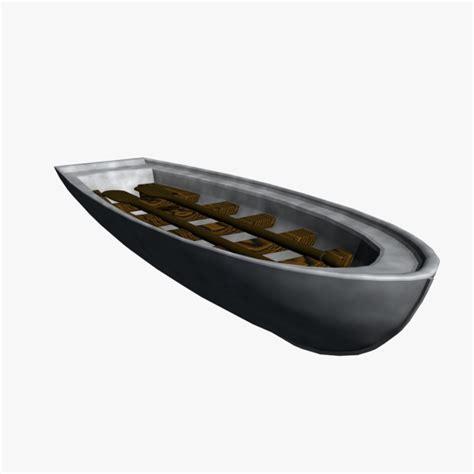 row boat model 3d small row boat model