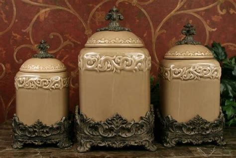 large kitchen canisters taupe large ceramic canister set