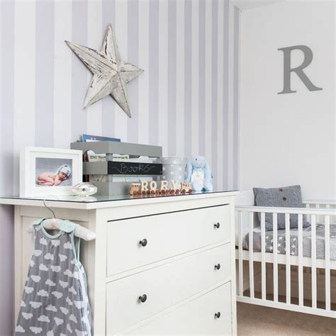grey wallpaper for nursery grey nursery with striped wallpaper and white furniture