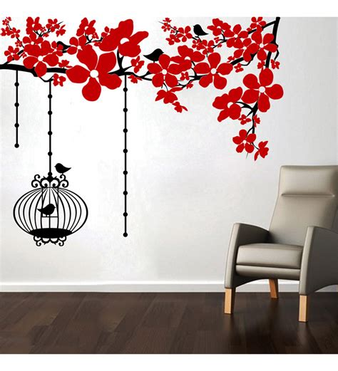 wall stickers china flowers wall decal by creative width florals home decor pepperfry product