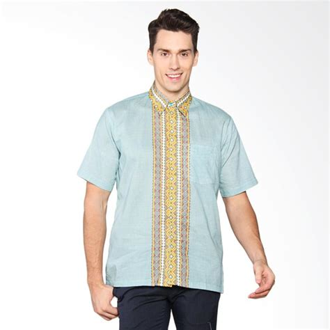 Baju Kemeja Batik Biru Cowok Pria jual batik adikusuma koko raster truntum biru kemeja pria 412110037 harga kualitas