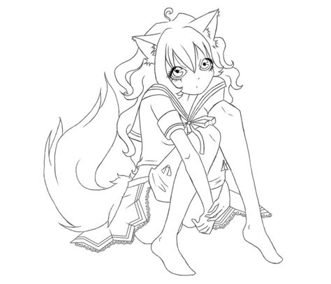 sexy anime fox coloring pages coloring pages free coloring pages of anime girl fox mcoloring