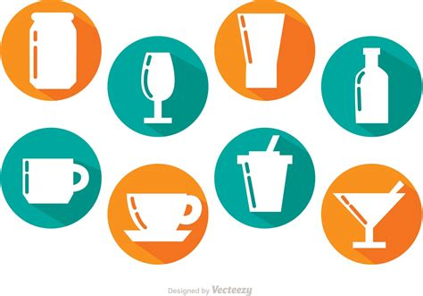 drink vector long shadow drinks vectors download free vector art