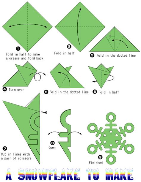 Folding Paper For A Snowflake - origami patterns 171 embroidery origami