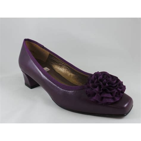 Hb Purple Hb Faune Purple Leather Court Shoe From Size4footwear Uk