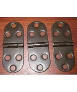 Hinges Set Of 20 Brown brown painted metal sewing machine table top hinges set of
