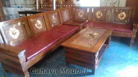 Sofa Sudut Semarang kursi sudut jati motif ukir minimalis terbaru cahaya