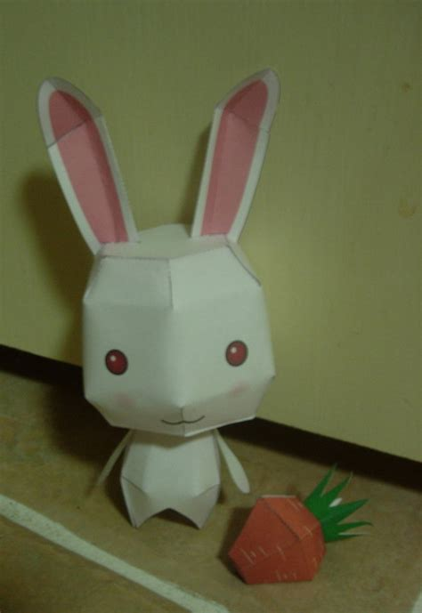 Paper Craft Rabbit - bunny and carrot papercraft by spankersthepirate on deviantart