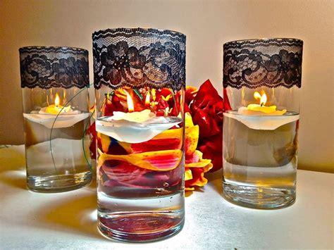candele galleggianti centrotavola centrotavola natalizi fai da te il decoupage