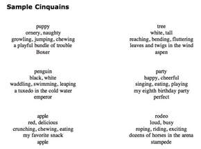 Cinquain Template by Ms Cox S For A Thought Orc Lesson Plan