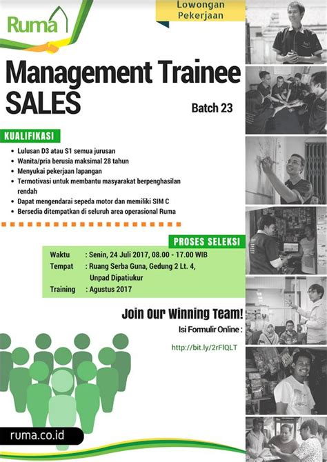 Loker Telemarketing loker ruma management trainee sales karirindonesia
