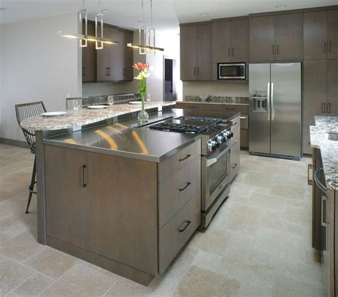 kitchen island with stove kitchen island with granite eating top and stainless steel
