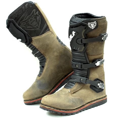 leather dirt bike boots wulf trials mx off road enduro wulfsport motocross bike