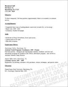 Temporary Worker Cover Letter by Exle Resume Sle Resume Ymca Executive