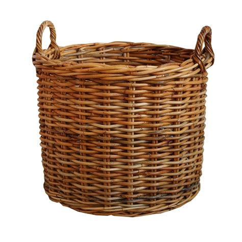 rattan baskets honey rattan round wicker log basket