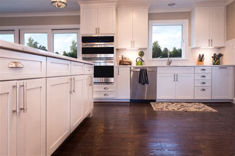 white cabinets with wood floors 35 striking white kitchens with wood floors pictures