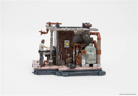 boiler room set mcfarlane toys the walking dead construction set prison boiler room free p p ebay