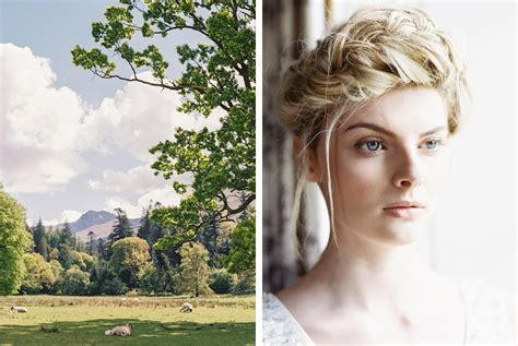 scottish plaited que hair under open skies scotland editorial photography on film
