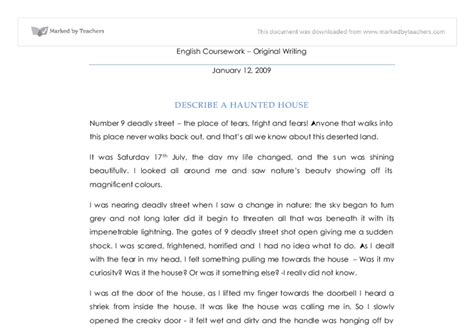 Description Of A Haunted House Essay by Haunted House Adjectives Gallery