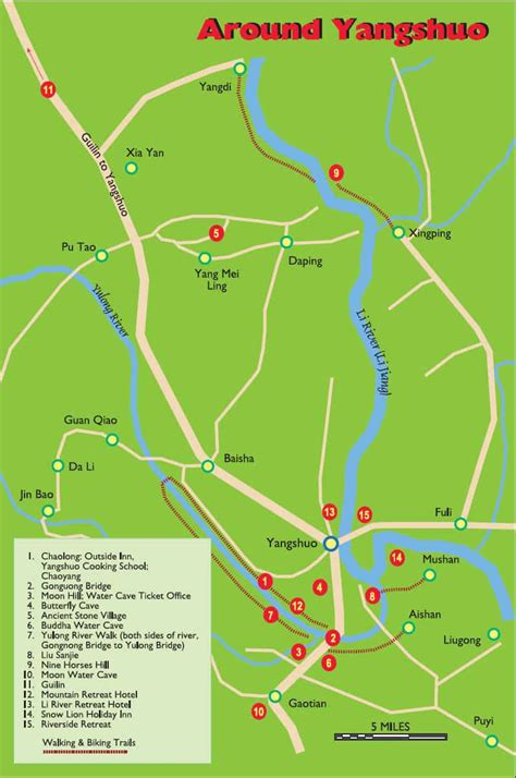 guilin china travel maps  printable  res tourist