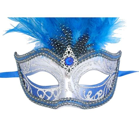 Masquerade In Blue venetian mask in for blue and silver sisi