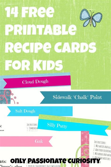 printable toddler recipes 12 best kid recipe cards images on pinterest children