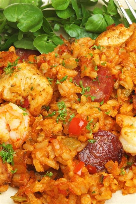 ham and chicken recipes jambalaya with shrimp chicken and ham recipe dishmaps