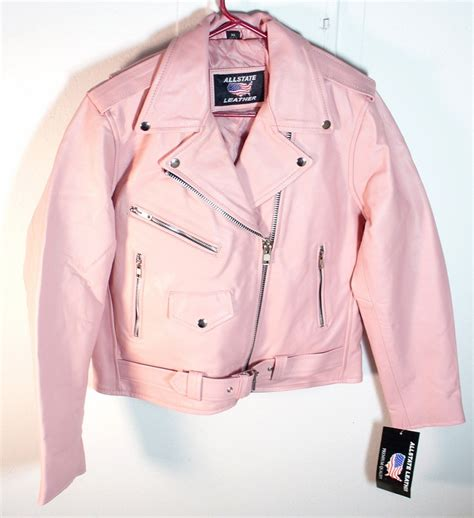 pink motorcycle jacket pink leather jacket www imgkid com the image kid has it