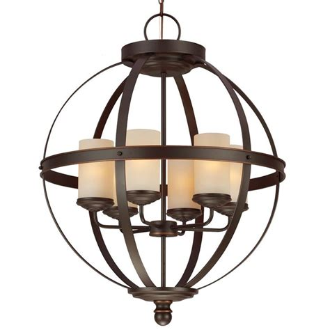 Globe Chandelier Framed Glam Square Ceiling Light Shades Glass