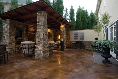 how to get stains concrete patio 18 stained concrete patio designs ideas design trends
